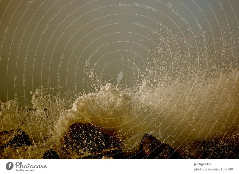 Water Sky Ocean Beach Colour Dark Stone Waves Coast Drops of water Force Gale Passion Wild animal Storm Inject