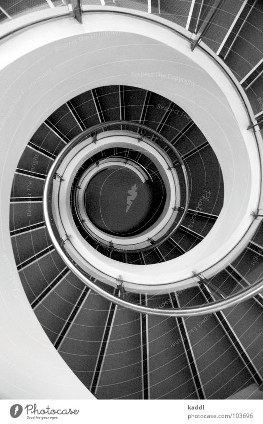 rumbling Whirlpool Abstract Sydney House (Residential Structure) Detail Black & white photo Stairs Swirl Handrail Perspective Architecture