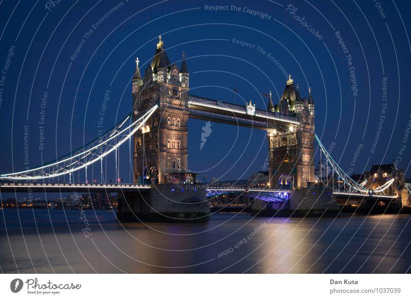 3 a.m. eternal London Great Britain Capital city Deserted Bridge Tourist Attraction Landmark Monument Tower Bridge Old Authentic Exceptional Historic Blue
