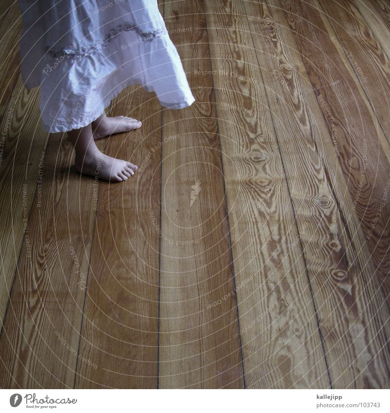 Child Girl White Playing Movement Wood Feet Dance Room Clothing Floor covering Dress Shows Stage play Living room Rotate