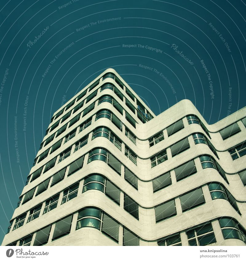 Blue City House (Residential Structure) Window Berlin Architecture Building Facade Corner String Aspire Venetian blinds Curved