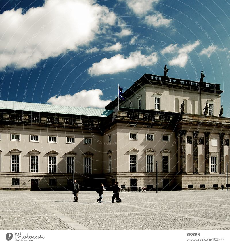 Human being Sky Blue City Clouds Berlin Music Germany Culture Good Square Under Monument Historic