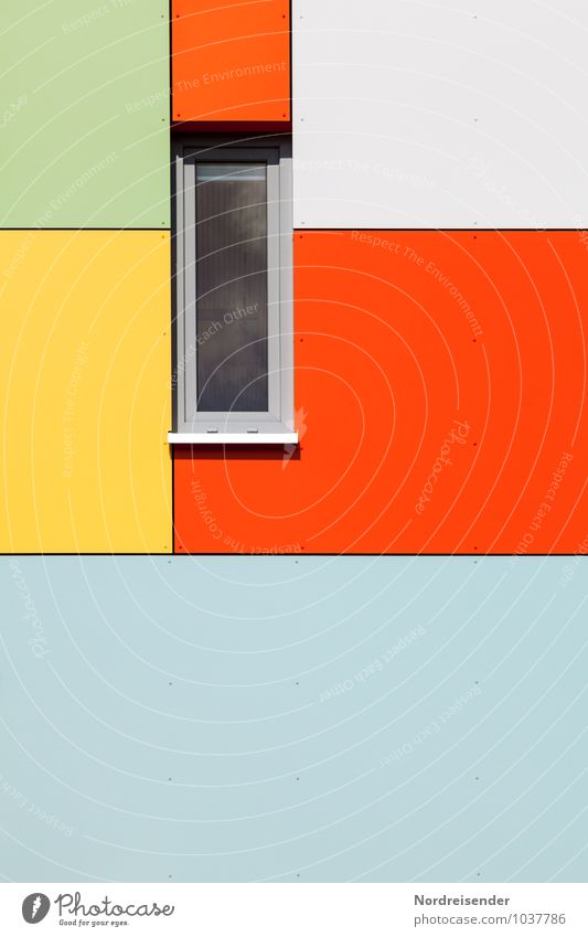 City Colour House (Residential Structure) Window Wall (building) Life Architecture Building Wall (barrier) Background picture Metal Facade Living or residing