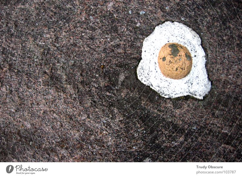Stone Rock Egg False Deception Illusion Minerals Betray Fried egg sunny-side up