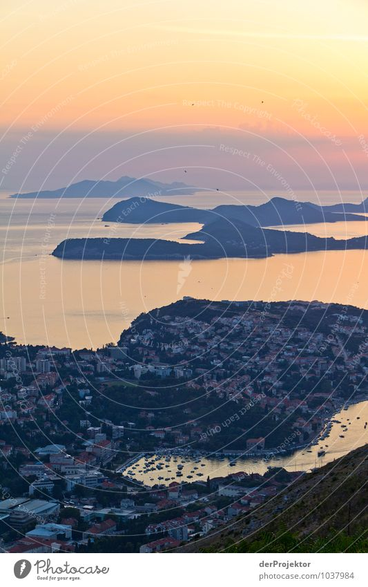 Dubrovnik at sunset Vacation & Travel Tourism Trip Adventure Far-off places Freedom Sightseeing City trip Cruise Summer vacation Environment Nature Landscape