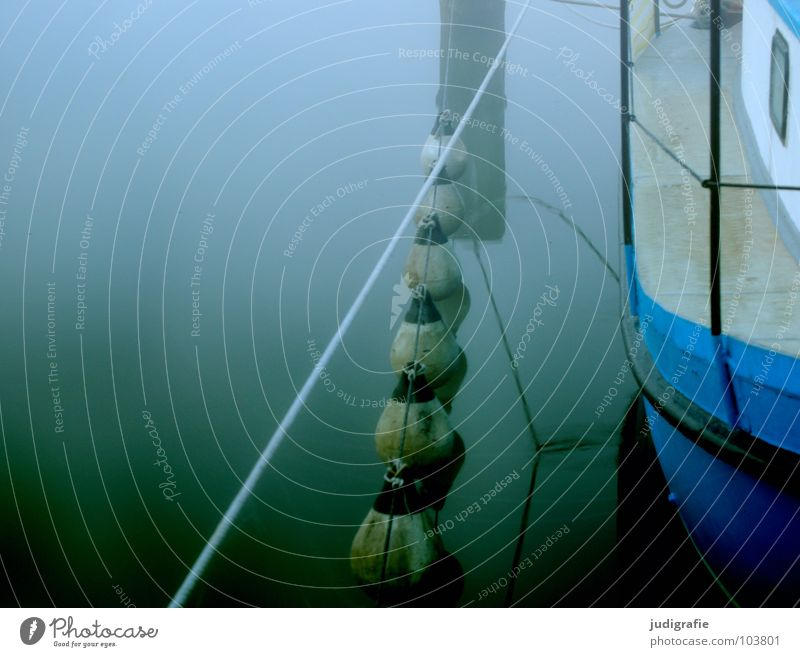 Nature Water Blue Calm Loneliness Lake Landscape Watercraft Moody Coast Fog Rope Harbour Footbridge Jetty Sail