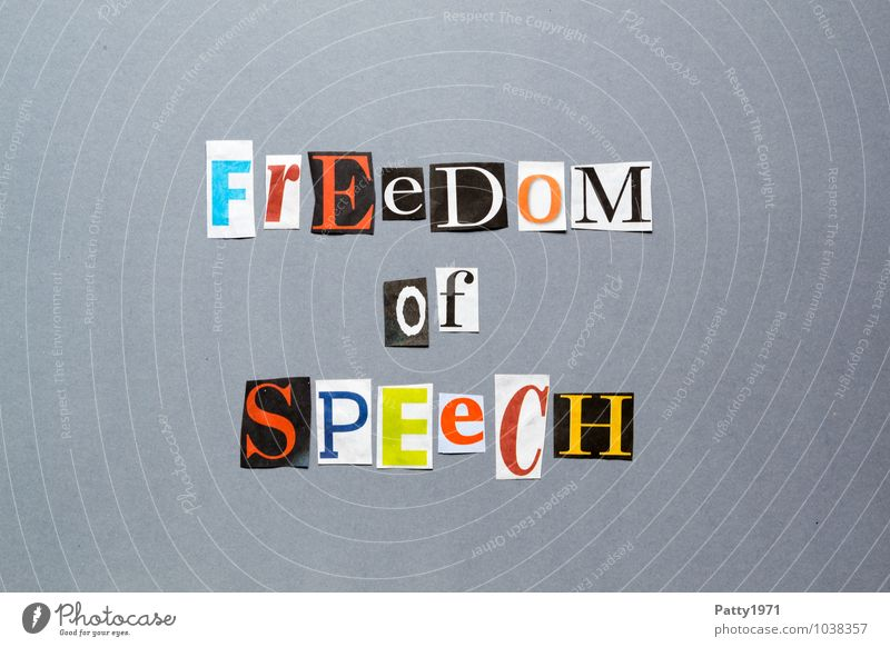 freedom of speech Print media Newspaper Magazine Sign Characters Typography To talk Free Brave Freedom Freedom of speech English Anonymous Low-cut Word Text