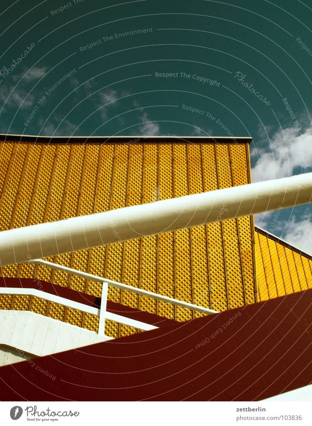Sky Summer Clouds Berlin Wall (building) Architecture Facade Stairs Modern Culture Shows Concert Swing Berlin Philharmonic Berlin culture forum