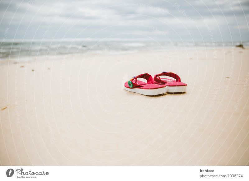 Nature Vacation & Travel Sun Ocean Beach Travel photography Coast Background picture Sand Pink Asia Summer vacation Sandy beach Blue sky Sandal Flip-flops