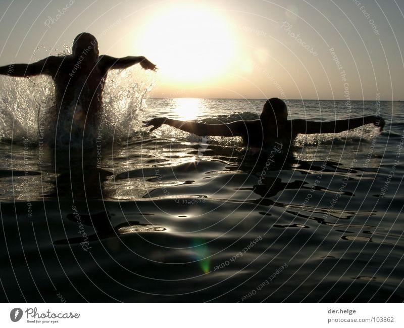 Water Ocean Jump France Refreshment Atlantic Ocean Funsport Splash of water Albatros