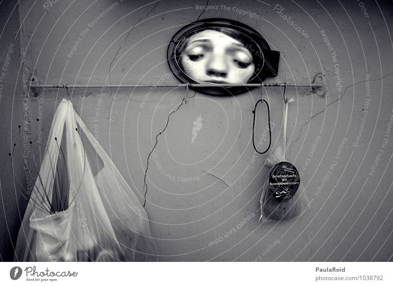 Human being Face Eyes Exceptional Crazy Mouth Observe Nose Curiosity Creepy Mirror Whimsical Bizarre Surrealism Interest Soap
