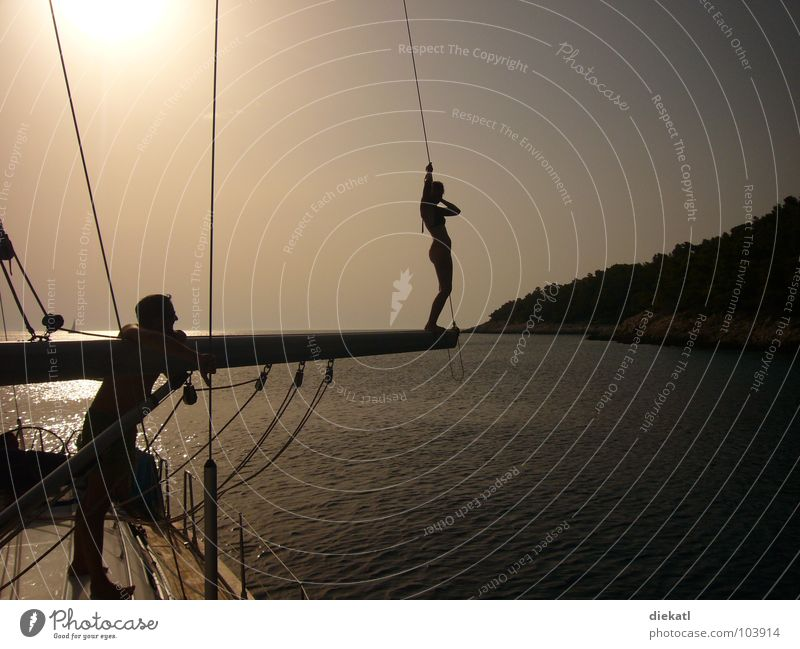 Tree Ocean Jump Warmth Watercraft Physics Bay Electricity pylon Sailboat Croatia