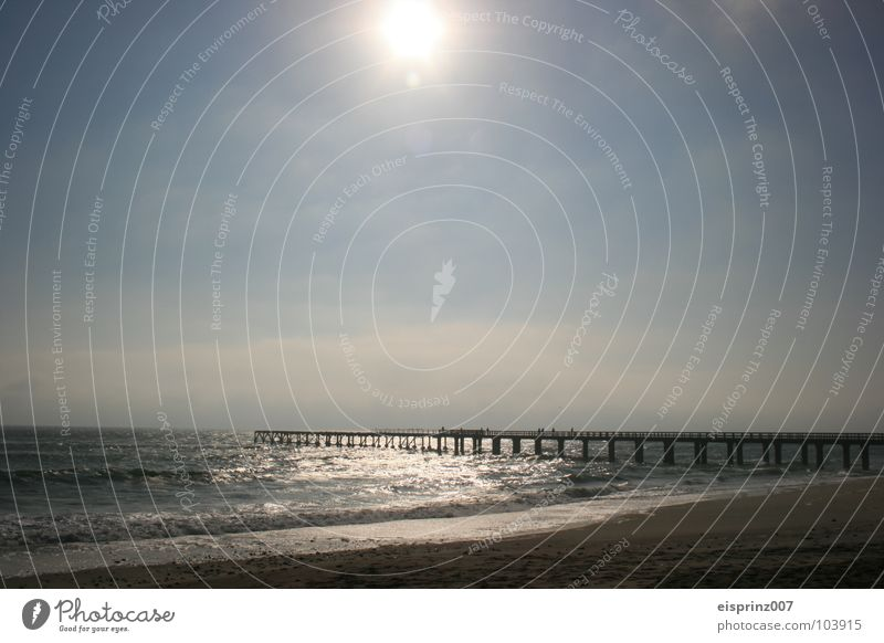 remote future Namibia Future Far-off places Longing Ocean Footbridge Swakopmund Africa Bridge