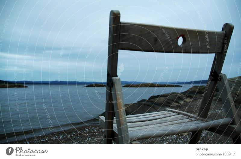 Water Sky Ocean Beach Calm Clouds Loneliness Cold Relaxation Wood Gray Think Wait Horizon Rock Sit