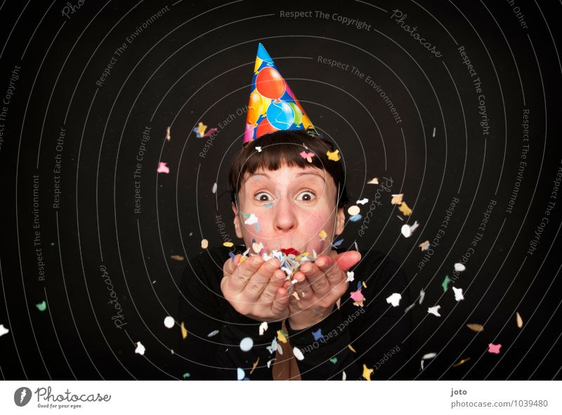 Human being Youth (Young adults) Young woman Joy Happy Feasts & Celebrations Party Contentment Birthday Free Happiness Smiling Joie de vivre (Vitality) New Year's Eve Surprise Hat