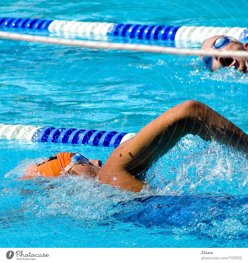 Water Blue Red Summer Sports Cold Movement Hair and hairstyles Orange Healthy Arm Wet Time Rope Railroad Fresh