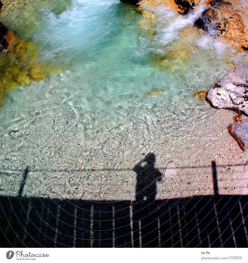 I've been here Brook Vacation & Travel Flow Cold Light Summer River Man Water Shadow Clarity Bridge