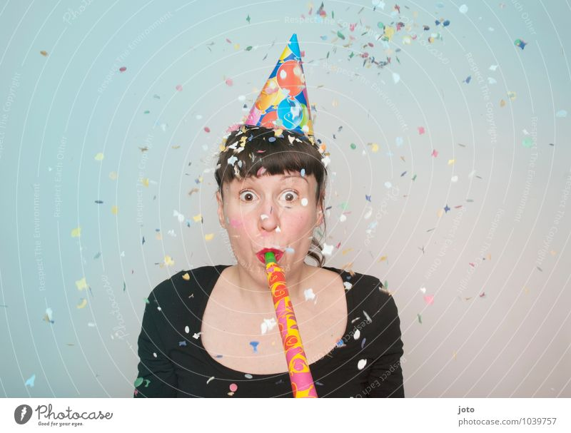 """Confetti series """"coloured"""" Joy Happy Party Feasts & Celebrations Carnival New Year's Eve Birthday Human being Young woman Youth (Young adults) Movement Throw"""