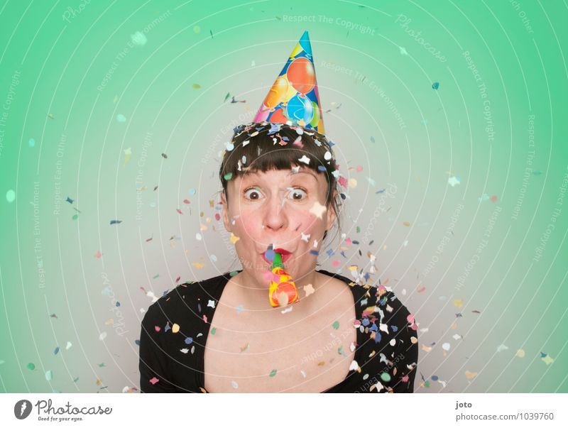 Human being Youth (Young adults) Young woman Joy Life Movement Happy Feasts & Celebrations Party Contentment Free Birthday Happiness Joie de vivre (Vitality) Surprise New Year's Eve