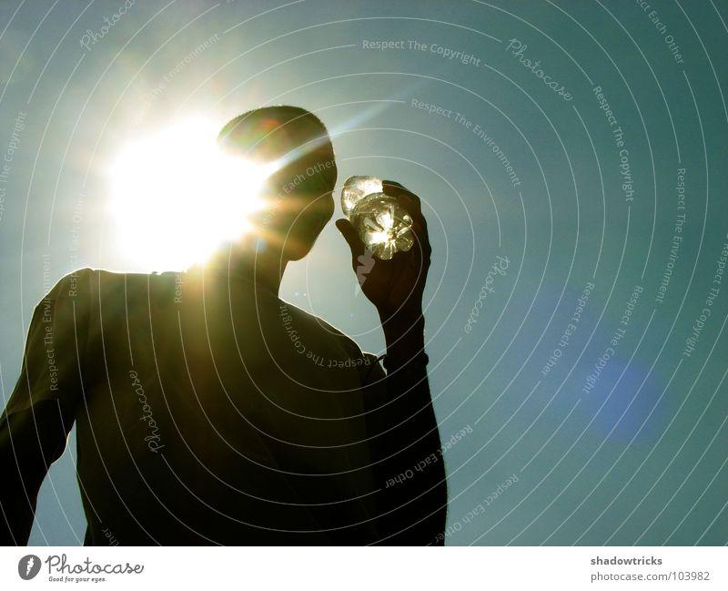 Human being Man Water Sky Sun Blue Black Dark Warmth Beverage Drinking Physics Radiation Cyan Thirst Azure blue