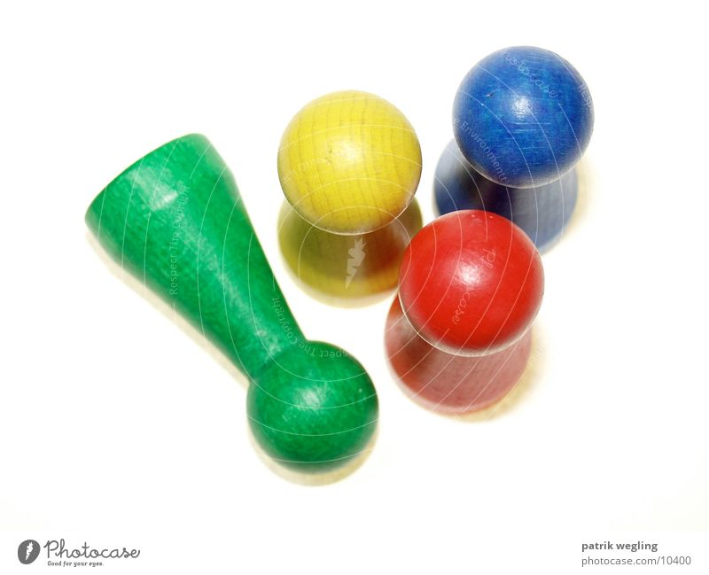 Green Blue Red Yellow Things Piece Toys