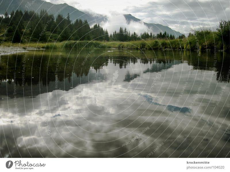 Water Calm Clouds Forest Mountain Lake Power Coast Fog Weather Tourism Switzerland Fir tree Storm Mountain lake Canton Graubünden