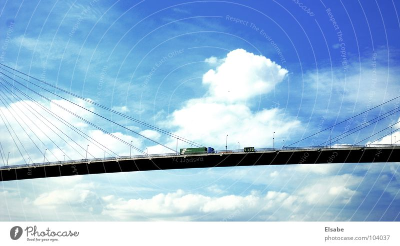 Sky Summer Clouds Street Development Freedom Car Air Hamburg Transport Bridge Driving Harbour Gastronomy Truck