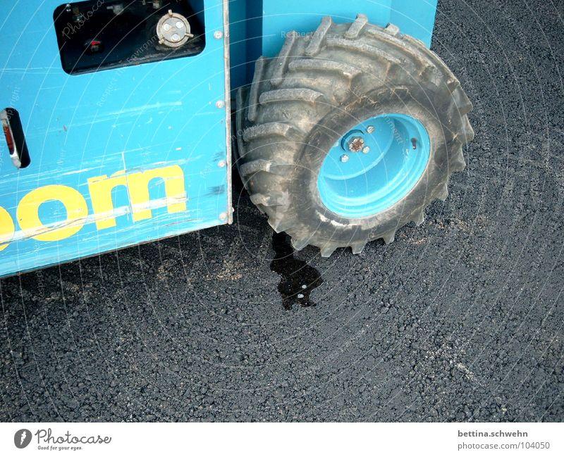 Excavating x Licking Excavator Lose Elapse Tracks Industry Blue scarred Street Water
