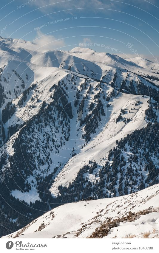 mountains / shadows / light Snowboard Environment Nature Landscape Forest Hill Rock Alps Mountain Tianshan Peak Snowcapped peak Cool (slang) Snowboarding