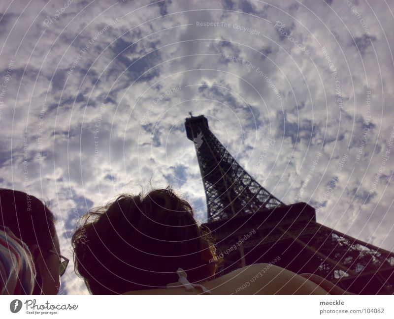 A trip to Paris Large Eiffel Tower Historic Lomography Marvel admire Sky Vacation & Travel Perspective