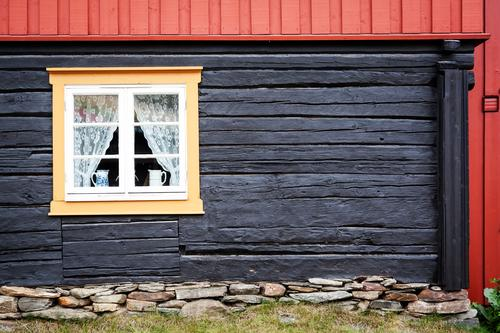 Røros House (Residential Structure) Dream house Redecorate Village Deserted Detached house Manmade structures Building Architecture Facade Window