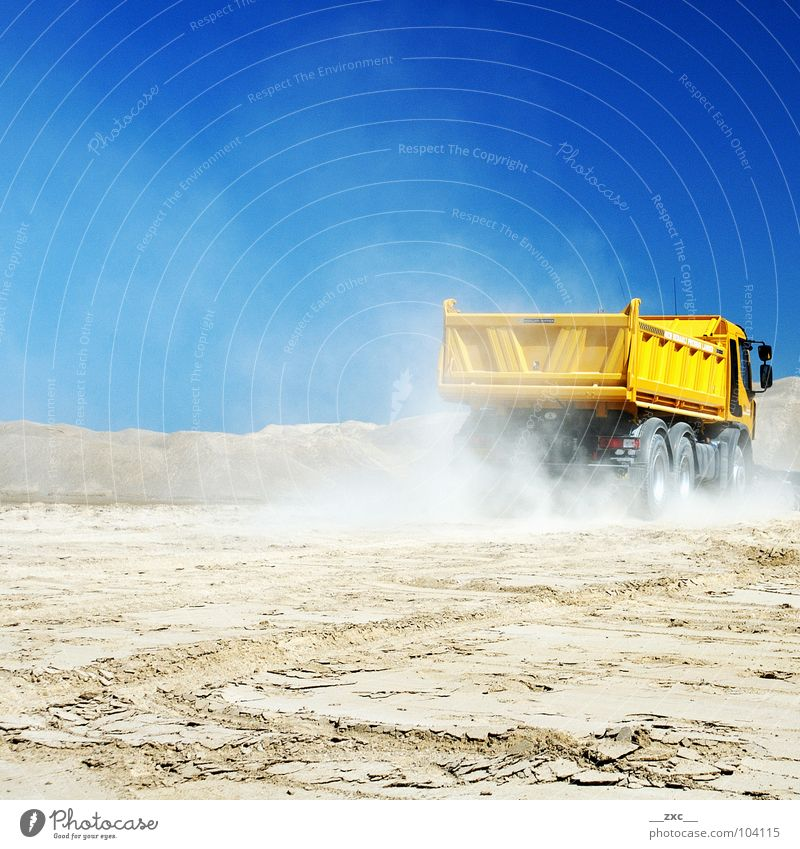 Sky Yellow Transport Logistics Industrial Photography Truck Build