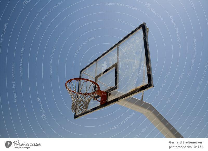 Sky Blue Sports Playing Ball Net Beautiful weather Basket Basketball Ball sports