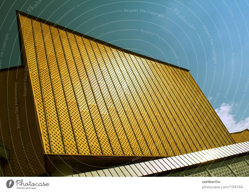Sky Summer Clouds Berlin Wall (building) Art Architecture Facade Stairs Modern Culture Shows Concert Entrance Swing Berlin Philharmonic