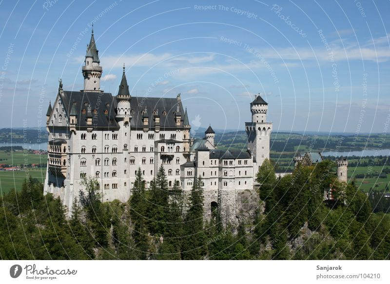 Sky Vacation & Travel Clouds Far-off places Forest Leisure and hobbies Horizon Allgäu Rock Hiking Action Peak Bavaria Castle Historic