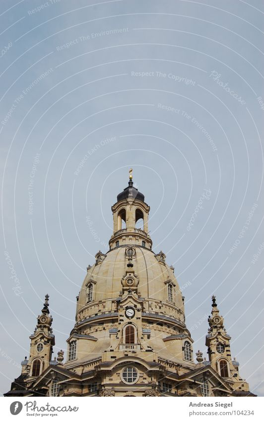 Frauenkirche once again Dresden Saxony Sandstone Domed roof Historic Renewal World War Destruction Reconciliation Stone cupola Gray House of worship Old town