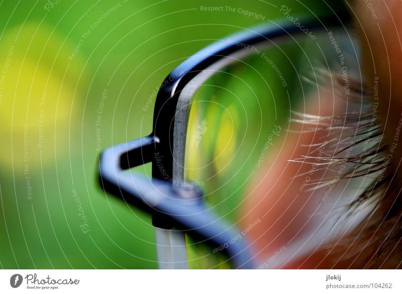 Green Black Eyes Yellow Glass Nose Eyeglasses Clarity Craft (trade) Transparent Screw Eyelash Lens Breakage Hanger Vision