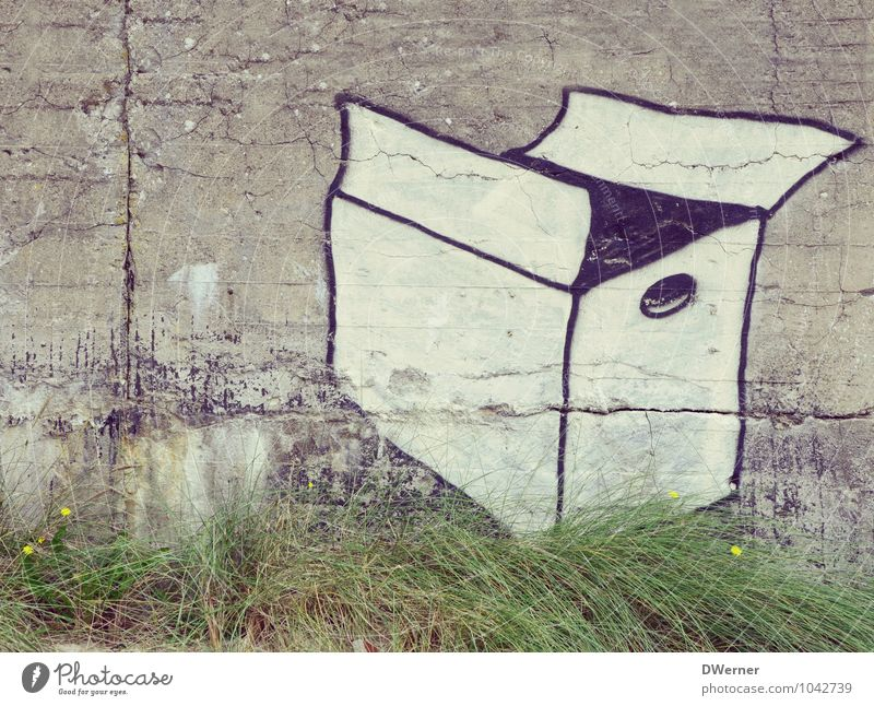 City Wall (building) Architecture Graffiti Grass Wall (barrier) Facade Living or residing Decoration Beautiful weather Sign Logistics