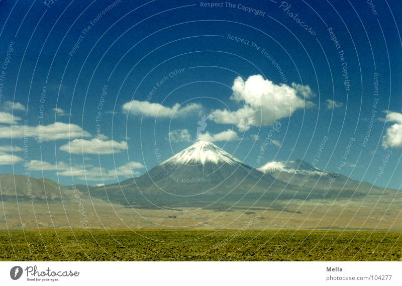 Sky White Blue Clouds Snow Mountain Stone Warmth Desert Physics Hot Dry Dust Thirst Volcano Chile