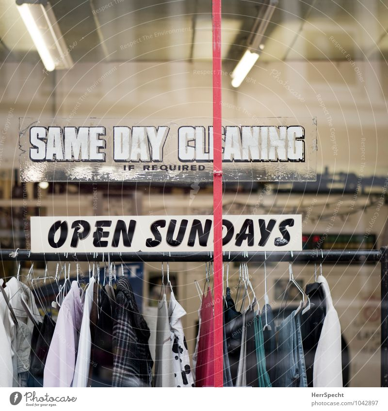 City House (Residential Structure) Window Signs and labeling Authentic Glass Characters Speed Clothing Clean Cleaning T-shirt Pants Shirt Under Services