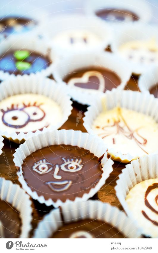 smiley Dessert Candy Chocolate Confectionary Nutrition Sign Smiley Face Laughter Friendliness Uniqueness Small Delicious Brown Joy Edible To enjoy Unhealthy