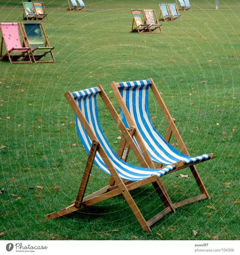 If it were summer now Deckchair Seating Relaxation Summer Park Vacation & Travel Sleep Boredom Furniture bore cool-down Camping chair parklife