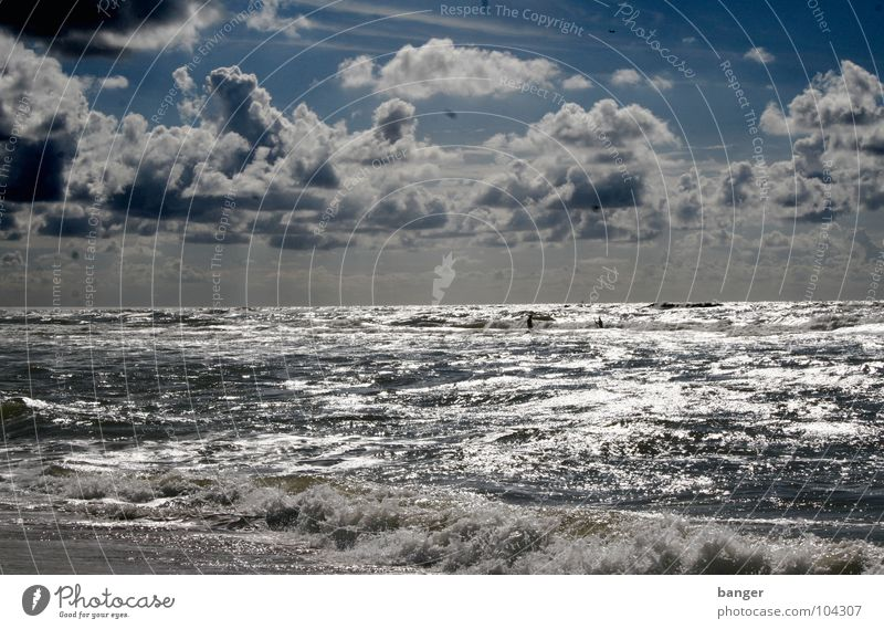 Day at the sea Ocean Vacation & Travel Netherlands Haarlem Waves Sky August North Sea parnassia Wind