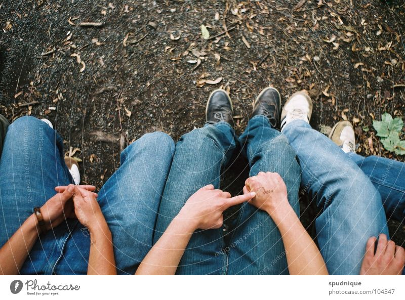 Human being Youth (Young adults) Summer Relaxation Footwear Wait Sit Perspective Jeans Bench Boredom