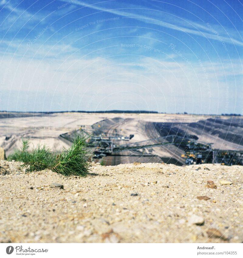 F-60 Cottbus Brandenburg Lignite Soft coal mining Mining Medium format Steppe Drought Dry Plant Industry Desert Lausitz forest weltsov Sand Landscape Bridge f60
