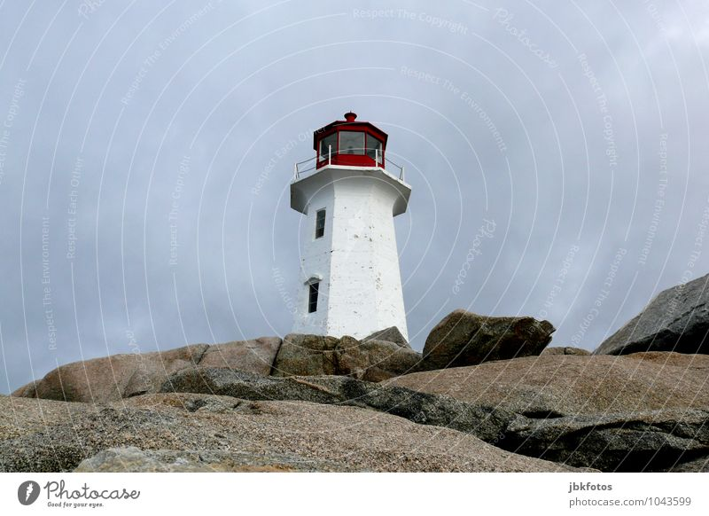 Peggy's Cove lighthouse Environment Landscape Elements Sky Horizon Rock Coast Lakeside Ocean Atlantic Ocean Tall Lighthouse