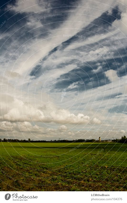 Nature Sky Blue Summer Calm Clouds Yellow Meadow Grass Landscape Field Dusk Cloud pattern
