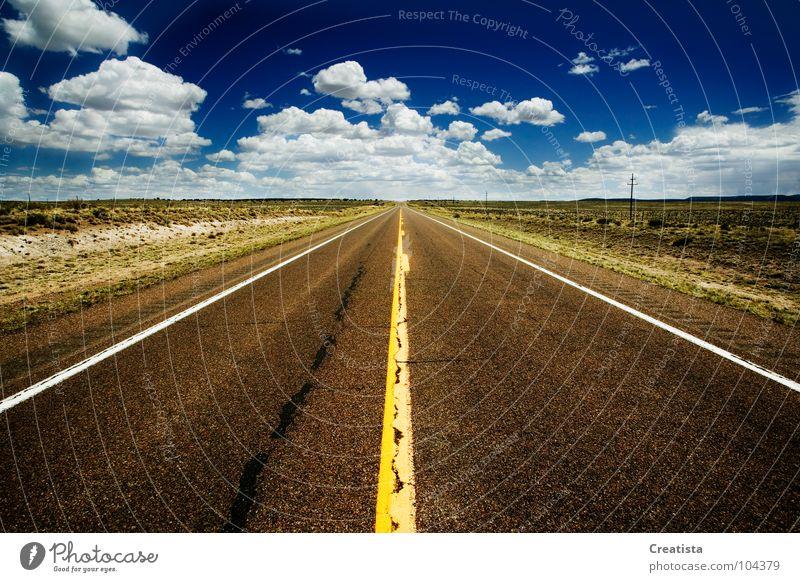 Sky Street Transport Motor vehicle Asphalt Highway Countries Direction Cumulus