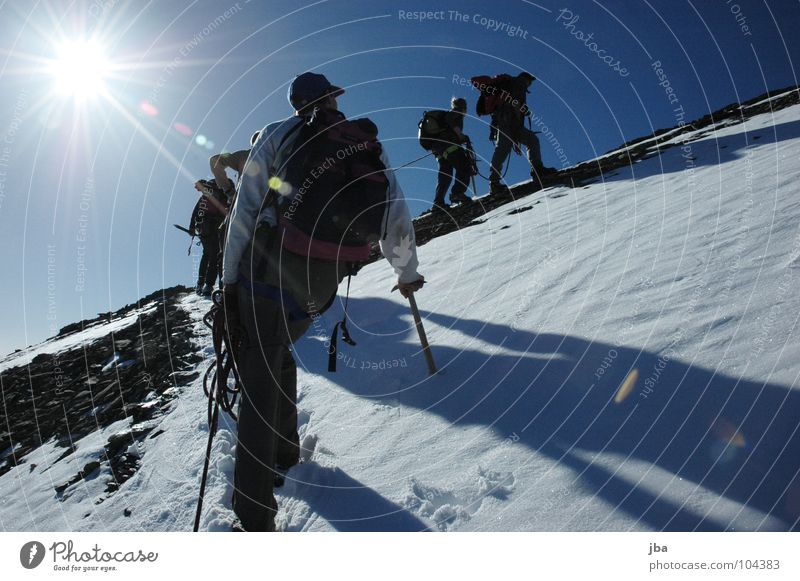 The ascent reloaded Mountaineering Vacation & Travel Hiking Glacier Morning Going Jacket Dependence Beautiful Fresh To go for a walk Geltenhorn Rope team