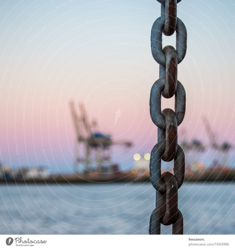 |. Workplace Economy Industry Water Sun Sunrise Sunset North Sea Ocean River Port City Industrial plant Harbour Navigation Container ship Chain Metal Line